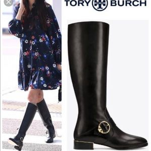 🎉🖤TORY BURCH Sofia Buckled Riding Boot